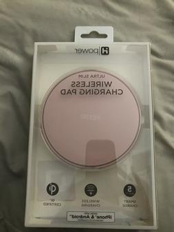 iHome ULTRA SLIM 5w Pink WIRELESS Charging Pad iPhone & Andr