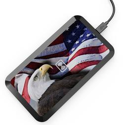US Flag Eagle Wireless Charging Pad,Mat for iPhone X,8,8+,No