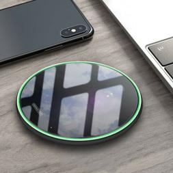 US Metal 15W Qi Wireless Charger Charging Pad Mat For i Phon