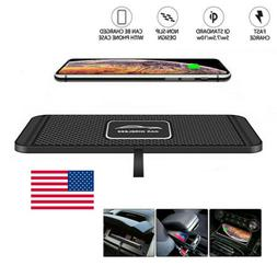 US Qi Wireless Car Phone Charger Fast Charging Pad Mat Dock
