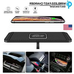 USA QI Wireless Car Phone Charger Fast Charging Pad Mat For