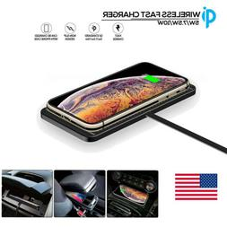 Wireless Charger Car Holder Non-Slip Pad Mat Fast Charging F