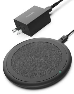 Wireless Charger Qi Fast Charging Pad with Power Adapter for