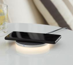 wireless charging pad with led night light