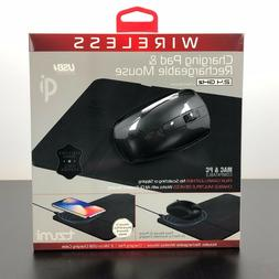 Wireless Phone Charger and Rechargeable Wireless Mouse Tzumi