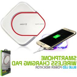 wireless qi charger charging pad w led